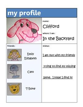 Social Network Character Profile