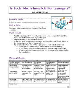 Social Networking Opinion Essay