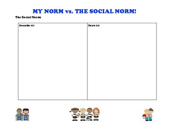 Social Norms Processing Sheet