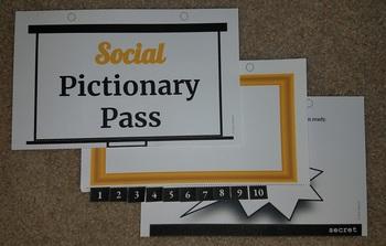 Social Pictionary Pass (social skills, figurative language game)