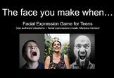 HUGE Facial Expression Game w/REAL photos (social, pragmatics, perspectives)