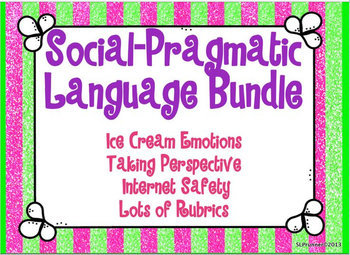 Social Pragmatic Language Group Bundle 4 large products