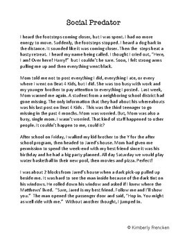 Social Predator: Fiction short story and Printables