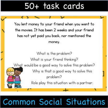 Social Problem Solving Cards - Social Skills for High School and Middle School