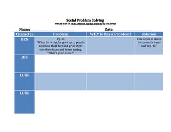 Social Problem Solving Chart