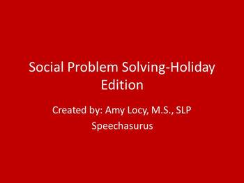 Social Problem Solving HOLIDAY edition