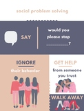 Social Problem Solving Poster: What to do when you have a