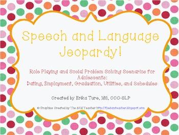 Social Problem Solving Scenarios for Adolescents:  Jeopardy Style