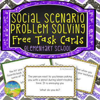 Free Social Problem Solving Task Cards By Pathway 2 Success