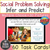 Social Problem Solving With Real Pictures BOOM Cards Speec