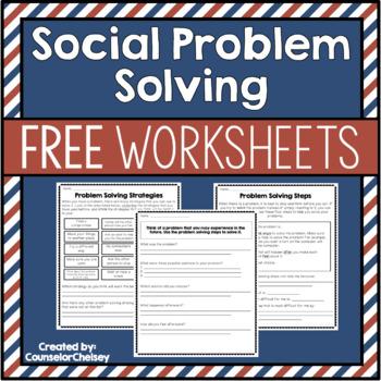 Social Problem Solving Worksheets {Free!}