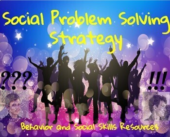 Social Problem Solving Worksheets and Cue Card- A Social Skills Intervention