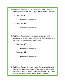 Social Problems and Solutions Worksheet