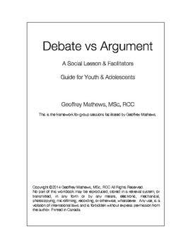 Social Program - Debate VS Argument Conversation Lesson