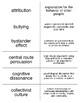 Social Psychology Flash Cards For Psychology