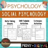Social Psychology - Psychology Interactive Note-taking Activities