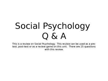Social Psychology Q & A