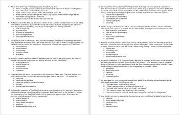 Social Psychology Unit Exam for AP Psychology