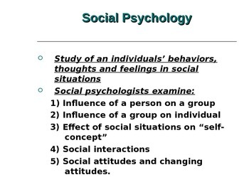 Social Psychology/Science Power Point IB Racism Heuristics Attribution