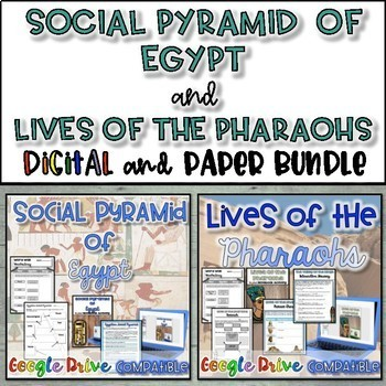 Social Pyramid and Lives of the Pharaohs Bundle