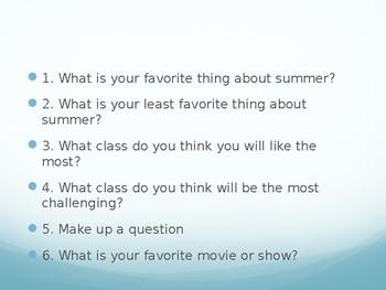Social Questions Middle School