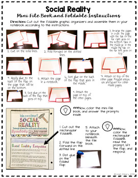 Social Reality File Book and Card Sort