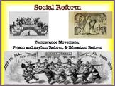 Social Reform Activities for Temperance, Prison & Asylum,
