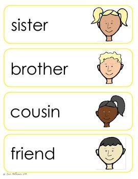 Social Relationships Vocabulary Cards and Spelling Practice