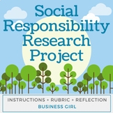 Social Responsibility Research Project with Digital Worksheet and Reflection