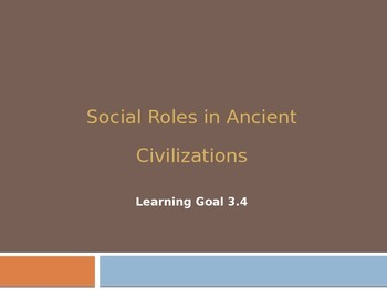Social Roles of Ancient Civilizations
