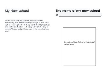 Social Story for New School