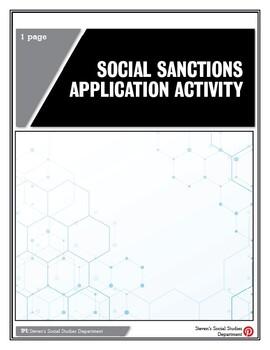 Social Sanctions Application Activity