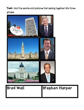 Social Studies- Saskatchewan Government Sort