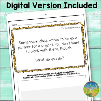 Social Problem Solving Task Cards - Distance Learning
