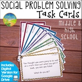 Social Scenario Problem Solving Task Cards for Middle and