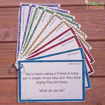 Social Problem Solving Task Cards for Middle and High School - Distance Learning
