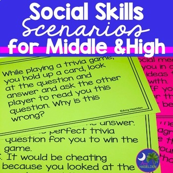 Social Skills Task Cards Groups Print and Go