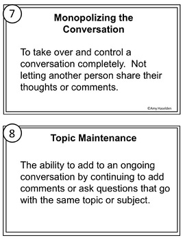 Social Skills Task Cards Differentiated Print and Go