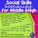 Social Skills Scenario Cards Print and Go No Prep