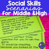 Social Skills Task Cards for Middle School Students Boom Cards Included