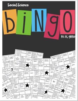 FTCE K-6 Social Science Bingo