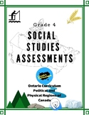 Social Studies - Canada's Regions - Assessments for Grade 4