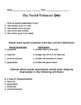 Social Scientist - Quiz
