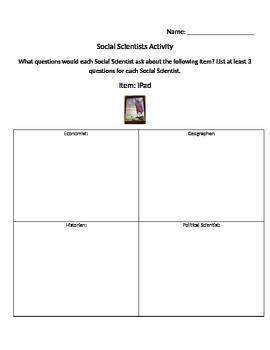 Social Scientists Questions Activity - Social Studies Aliv