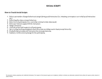 Social Script: Going to the Carnival