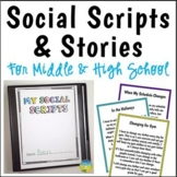 Social Scripts and Stories for Middle & High School