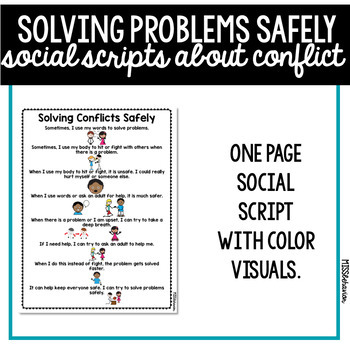 Social Scripts | Solving Conflicts Safely