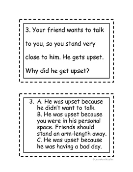 Social Situations Practice Cards