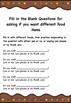 Social Situation Worksheet for Answering Questions at a Family Gathering