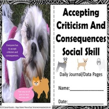 Social Skill Accepting Criticism & Consequences Rescue Dogs' Series SPED/ELL